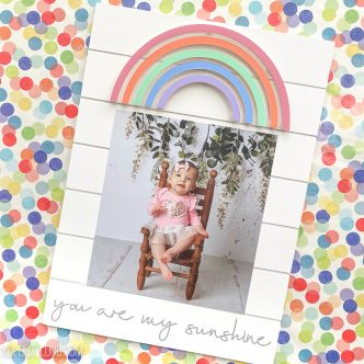 rainbow baby picture frame