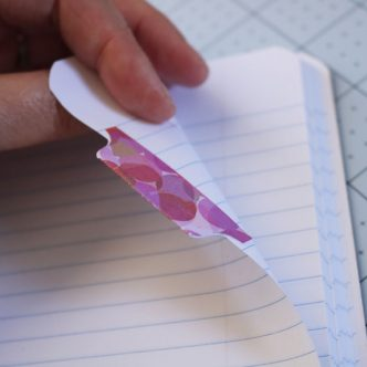 diy notebook tabs