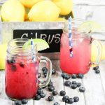 The Best Blueberry Lemonade with Lime