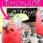 Whip up this blueberry lemonade for a refreshing twist on a classic! You will love sipping this one on the front porch on a hot summer day! #lemonade #limeade #blueberry #drink #recipe