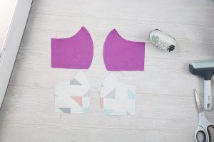 fabric face mask pieces