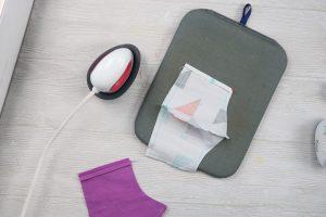 ironing down seams