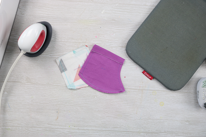 sewing a face mask from fabric