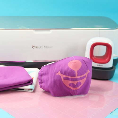 how to sew cricut face masks with iron on