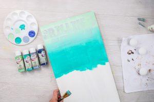 ombre paint technique