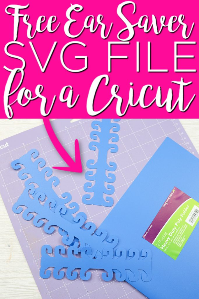 Use our free ear saver SVG file for your Cricut machine. Then you can cut these ear savers for yourself or for healthcare workers. #cricut #cricutcreated #svgfile #svg #earsaver #facemask