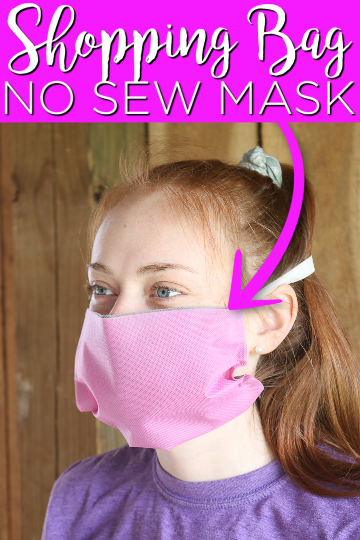 reusable shopping bag no sew face mask