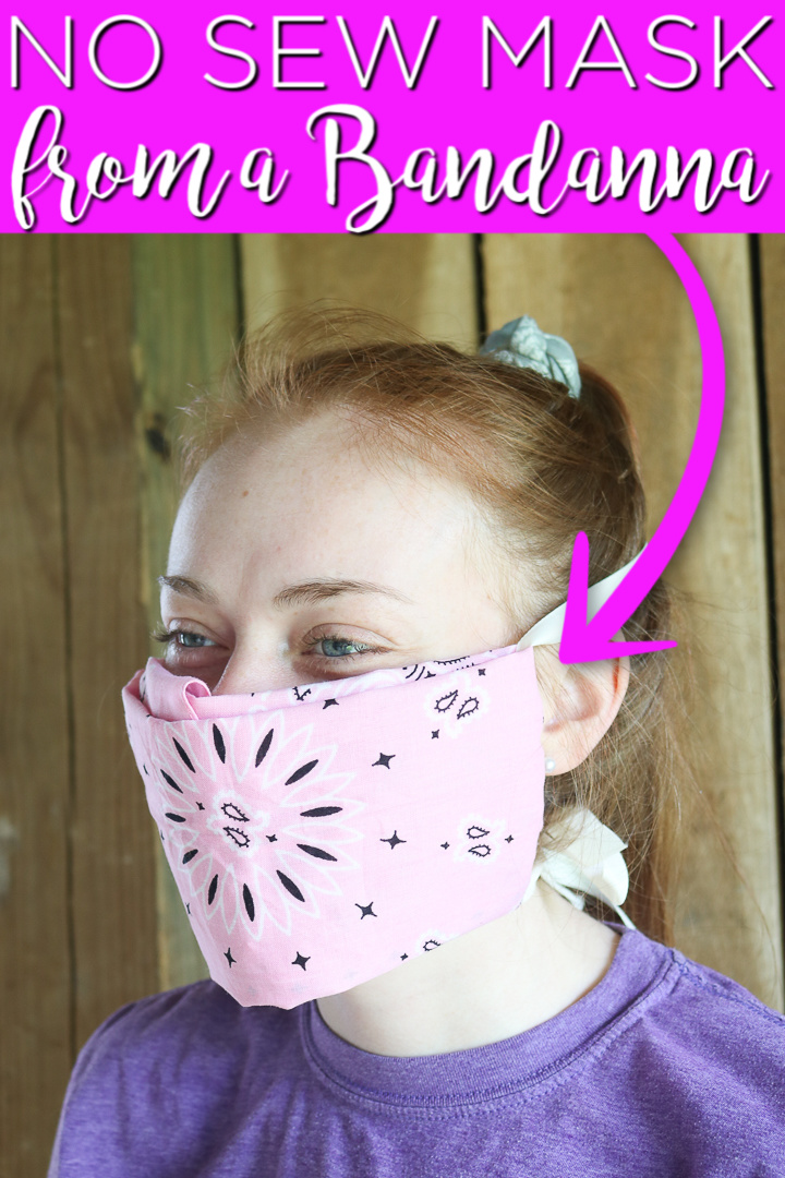 diy bandanna face mask