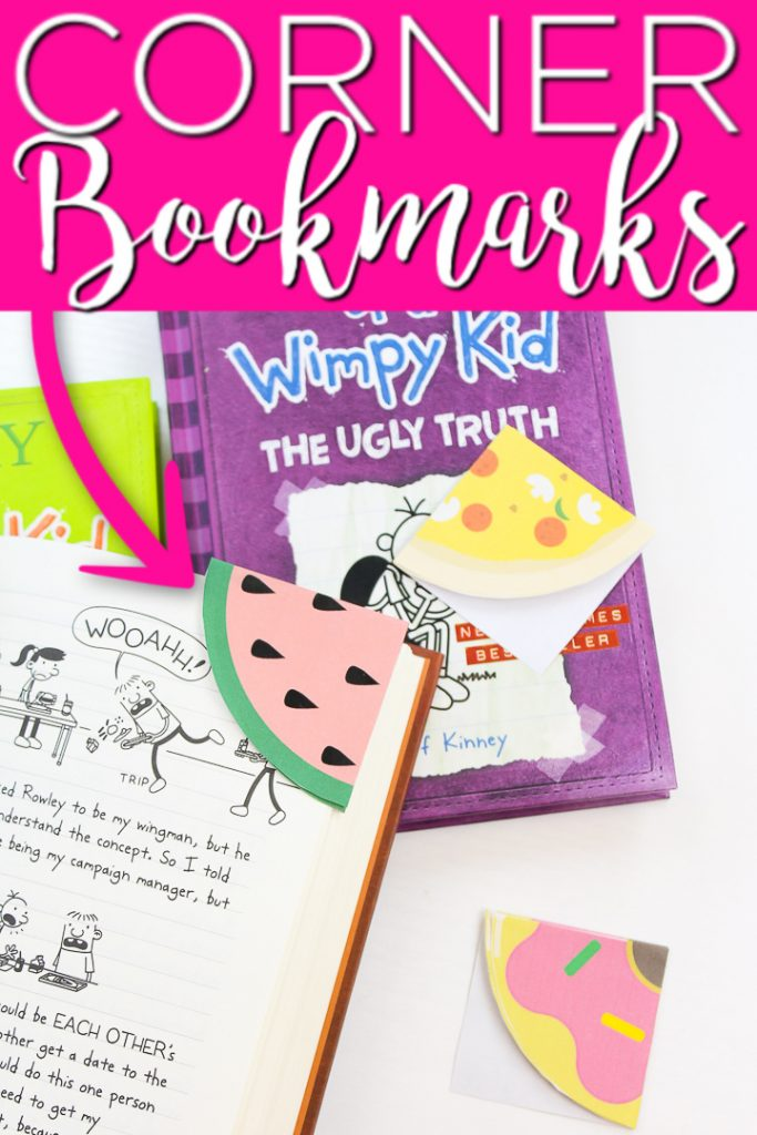 Learn how to make corner bookmarks as well as get three free printable versions for your kids! #bookmarks #kids #read #reading