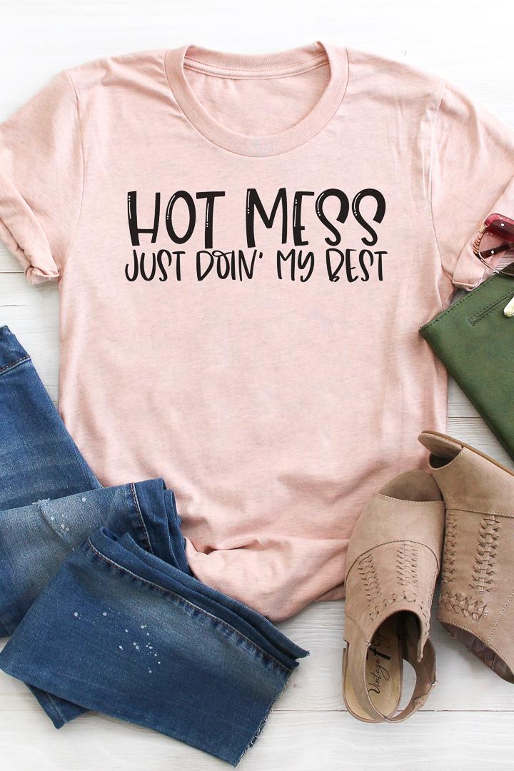 hot mess mom svg