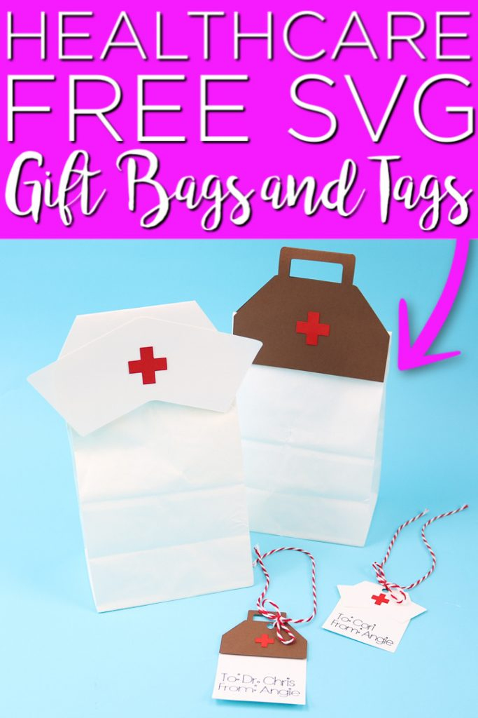 Give thank you gifts for hospital staff with our free healthcare SVG file! Make gift bags and tags with your Cricut for healthcare appreciation! #nurses #doctors #cricut #cricutcreated #healthcareworkers #svg #freesvg #cutfile #freecutfile