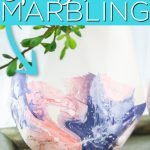 Have you tried spray paint marbling? This each paint technique can be used on just about any surface to get a cool effect with just a few supplies! #spraypaint #crafts #homedecor #marbling #marbled #painting