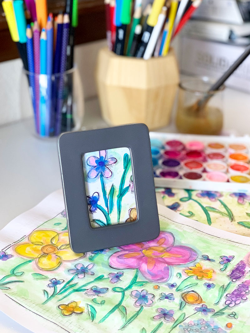 Mini art decor from Coloring Pages