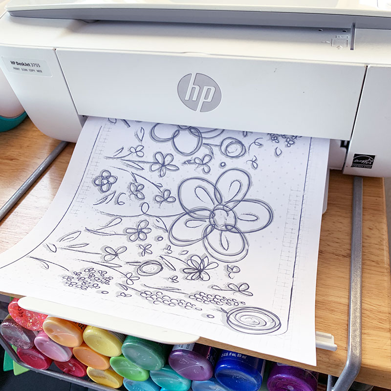 printing coloring pages at home