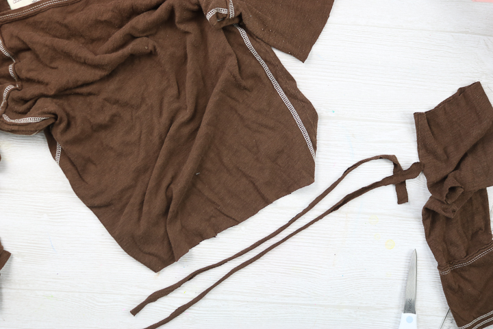 making string from an old t-shirt