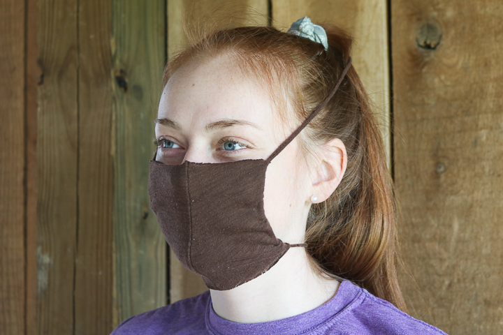 t-shirt face mask with no sewing