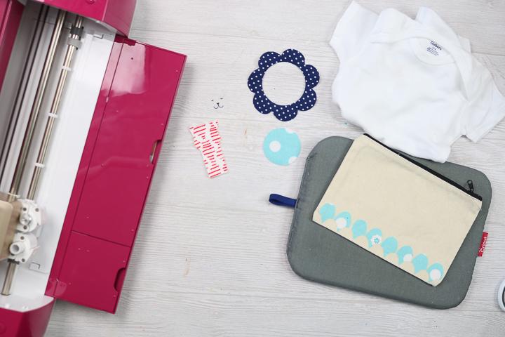 decorating a zipper pouch