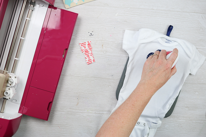 using the easypress mini on fabric