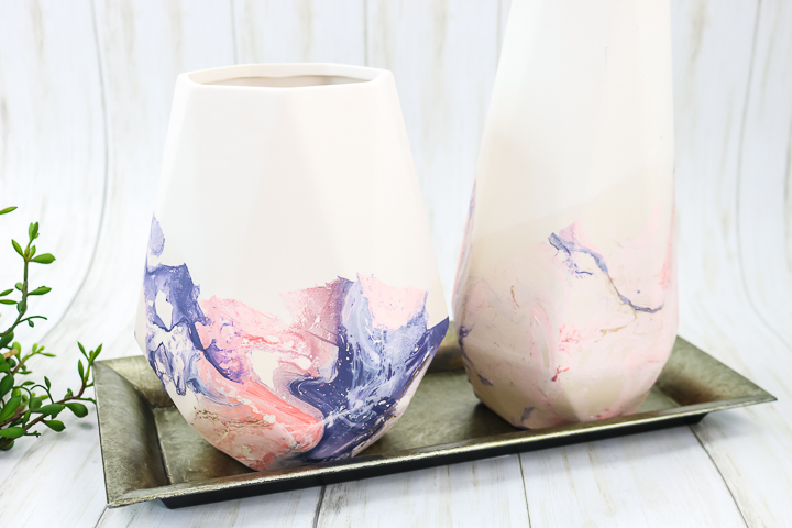 adding marbled paint to any surface