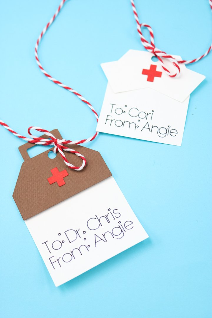 doctor and nurse gift tags