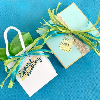 handmade gift tags on presents