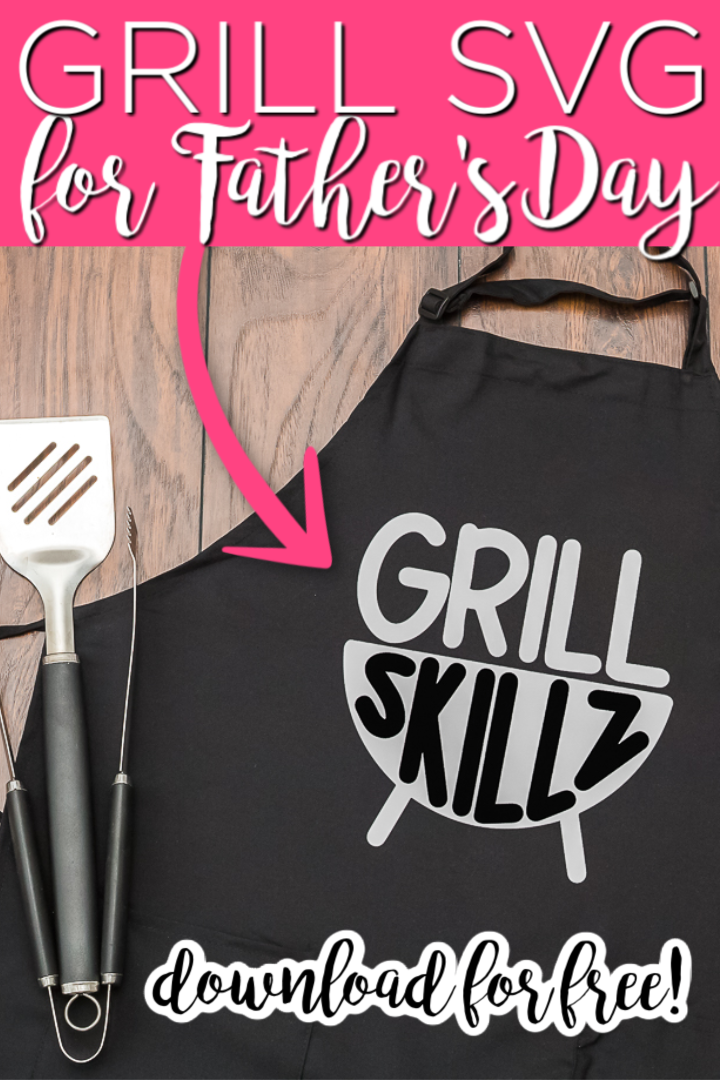 Download this free grill SVG and make something for dad this Father's Day! Post includes 12 other free Father's Day SVG files as well so you have a ton of options! #svg #freesvg #fathersday #grill #grilling #dad #cutfile #cricut #cricutcreated