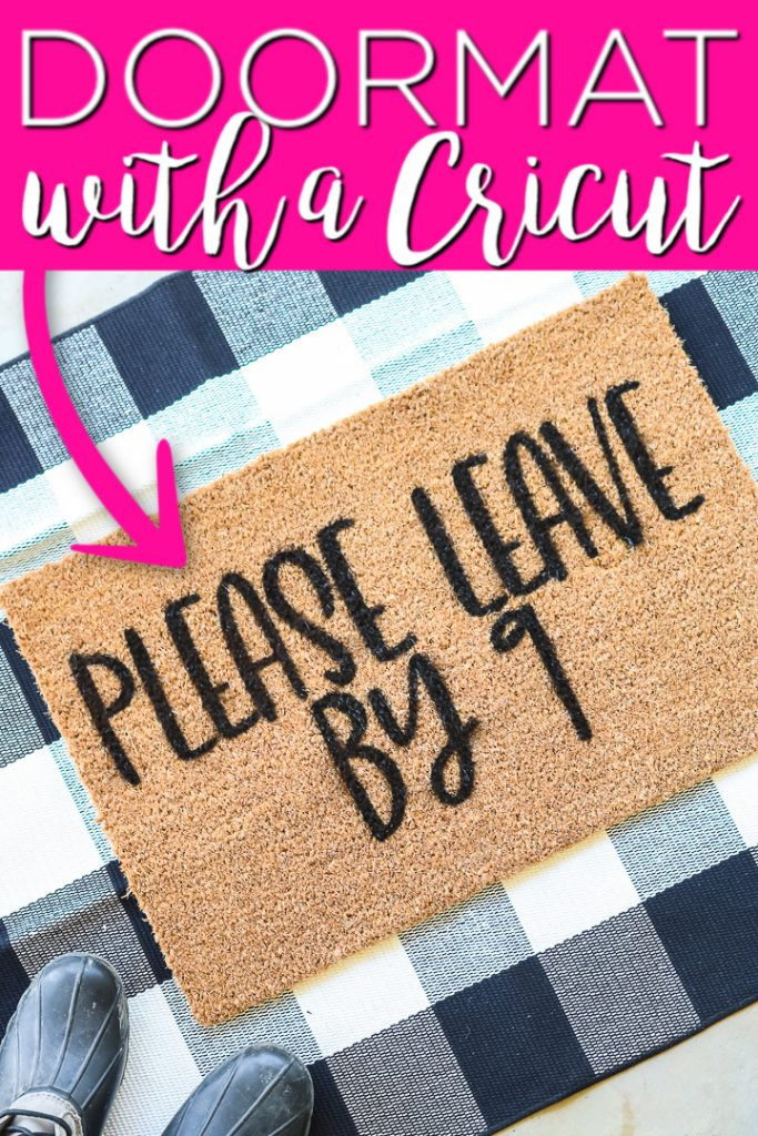 Learn how to make a DIY doormat with your Cricut machine and this tutorial. Includes 11 free SVG files to use to make your custom doormats! #doormat #cricut #cricutcreated #cricutprojects #cricutideas #svg #freesvg #cutfile #freecutfile