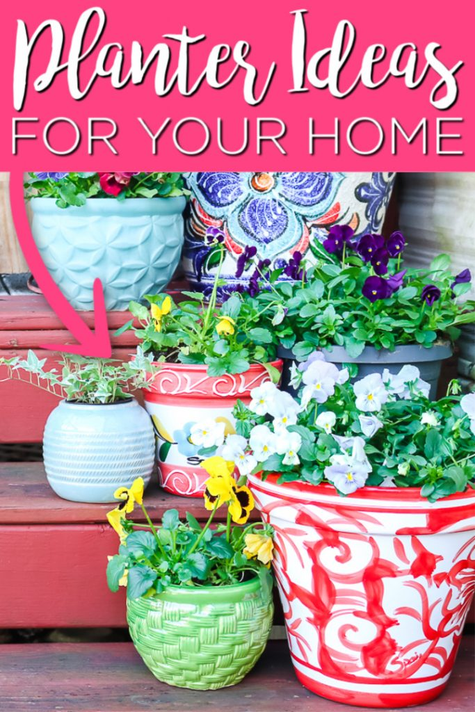 Our planter ideas are perfect for your home! From large to small, add planters to your deck, porch, or patio to grow something amazing this spring and summer! #otp #otpfinds #planters #garden #gardening