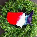 Summer Wreath with USA Cutout