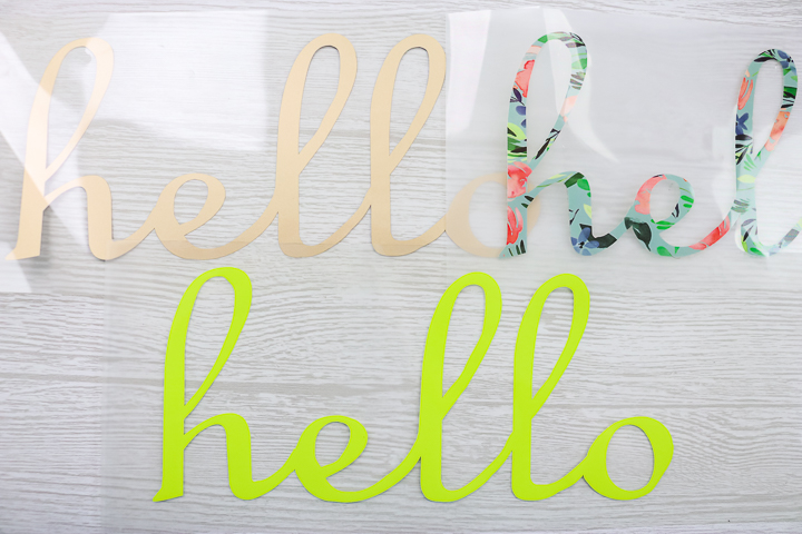 heat transfer vinyl cut matless on cricut joy