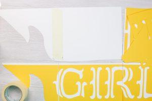 assembling a sign cut on a cricut