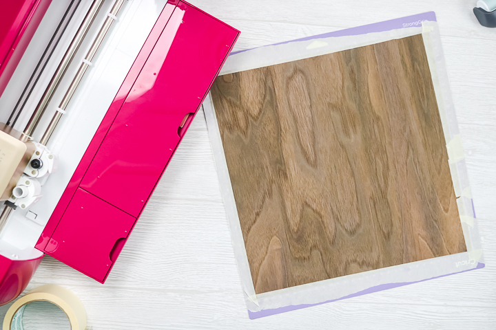 wood veneer on cricut mat