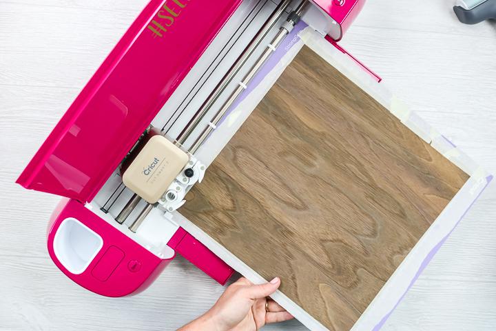 cutting wood veneer cricut explore air 2