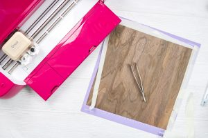 removing wood from cricut mat