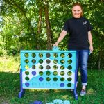 DIY Backyard Game: Paint a Four in a Row Game