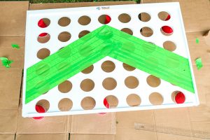 adding a chevron pattern with masking tape