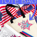 DIY Patriotic Tote Bag with Coloring Pages and Cricut Infusible Ink