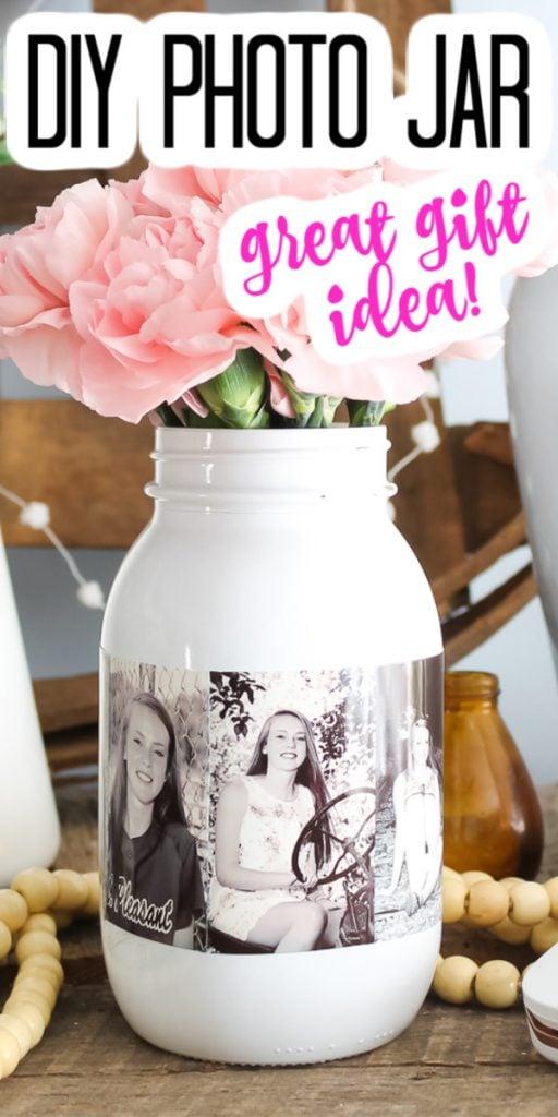 make a photo mason jar