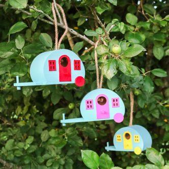 camper birdhouses