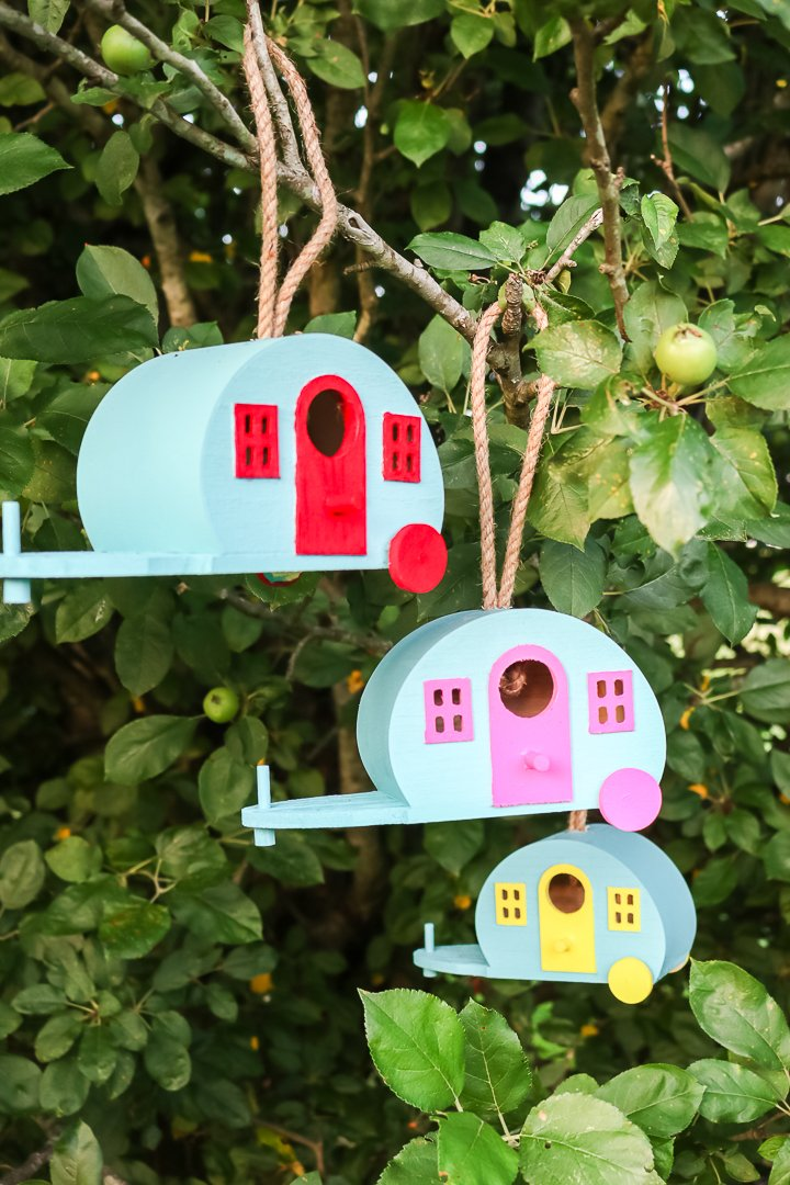 retro birdhouses