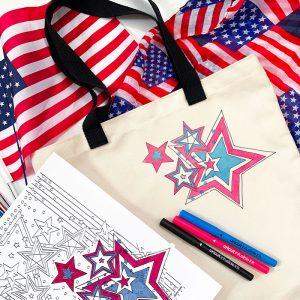 make a patriotic tote bag