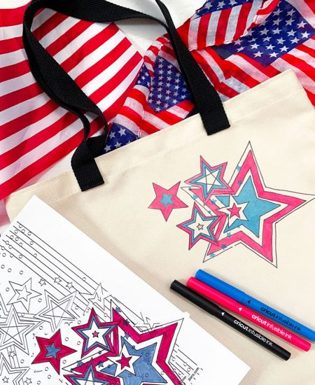 make a patriotic tote bag