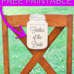 Print these wedding chair signs for free and use them to reserve seating at your wedding for parents and grandparents. Perfect for a rustic wedding them! #wedding #rustic #masonjar #printable #freeprintable