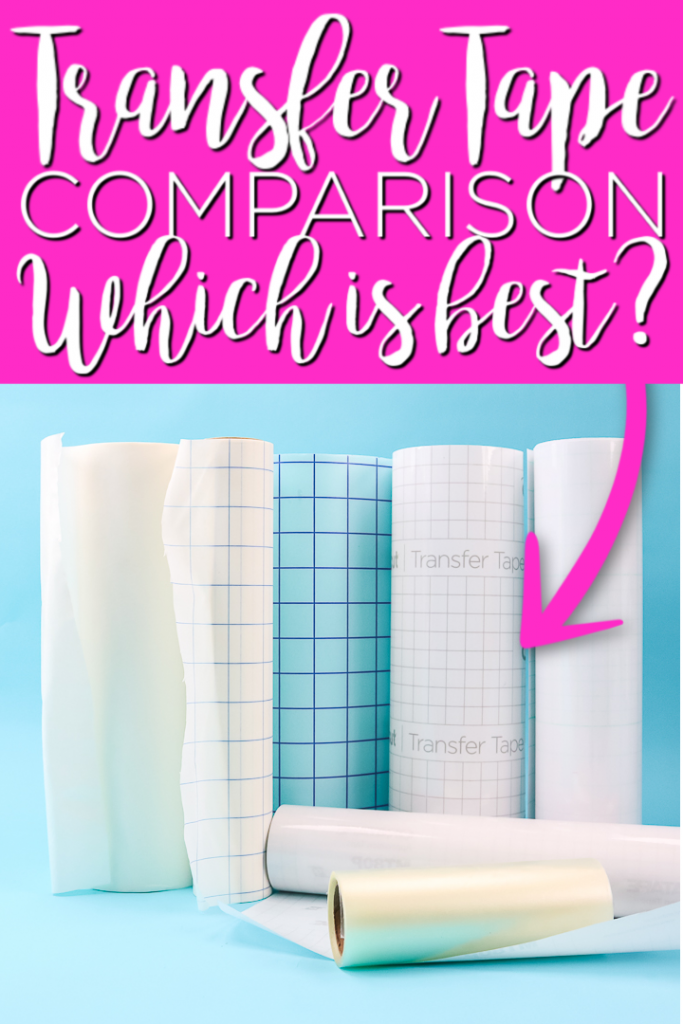 Which brand of transfer tape is best? We have a transfer tape comparison of 7 brands so you can see for yourself which is the winner! #transfertape #cricut #cricutcreated #vinyl #adhesivevinyl