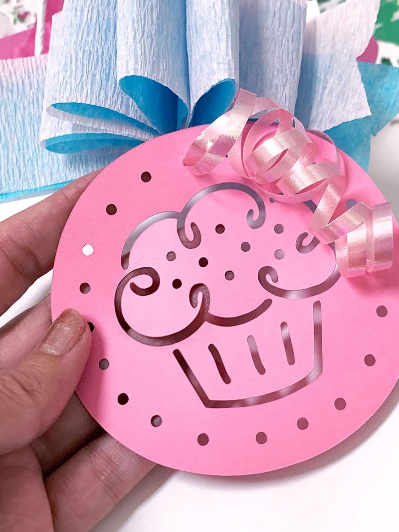 cupcake gift tag