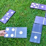 How to Make DIY Dominoes for Your Backyard