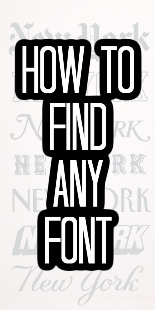Grab any image and find the font associated with it with our tips and tricks! We are covering the best website to find any font! #fonts #graphicdesign