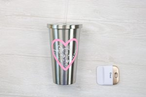 insulated tumbler with vinyl