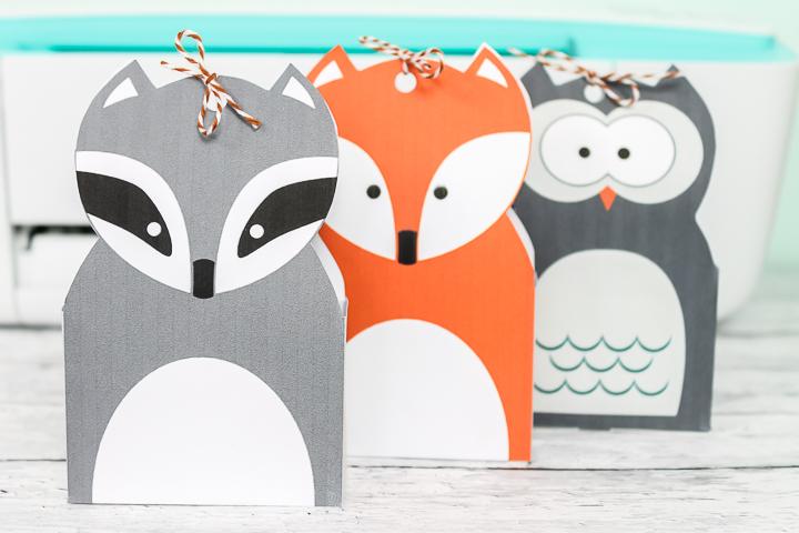 woodland animal gift bags