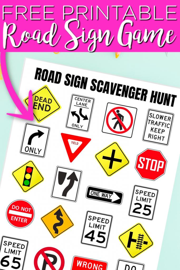 Ce jeu de panneaux de signalisation imprimable est parfait pour les enfants! Imprimez ceci avec d'autres imprimables de road trip gratuits pour faire de votre long voyage un énorme succès! #roadtrip #printable #freeprintable #summer #game #printablegame #gameidea #scavengerhunt